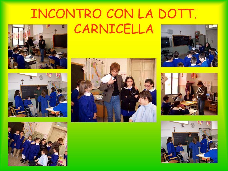 INCONTRO CON LA DOTT. CARNICELLA