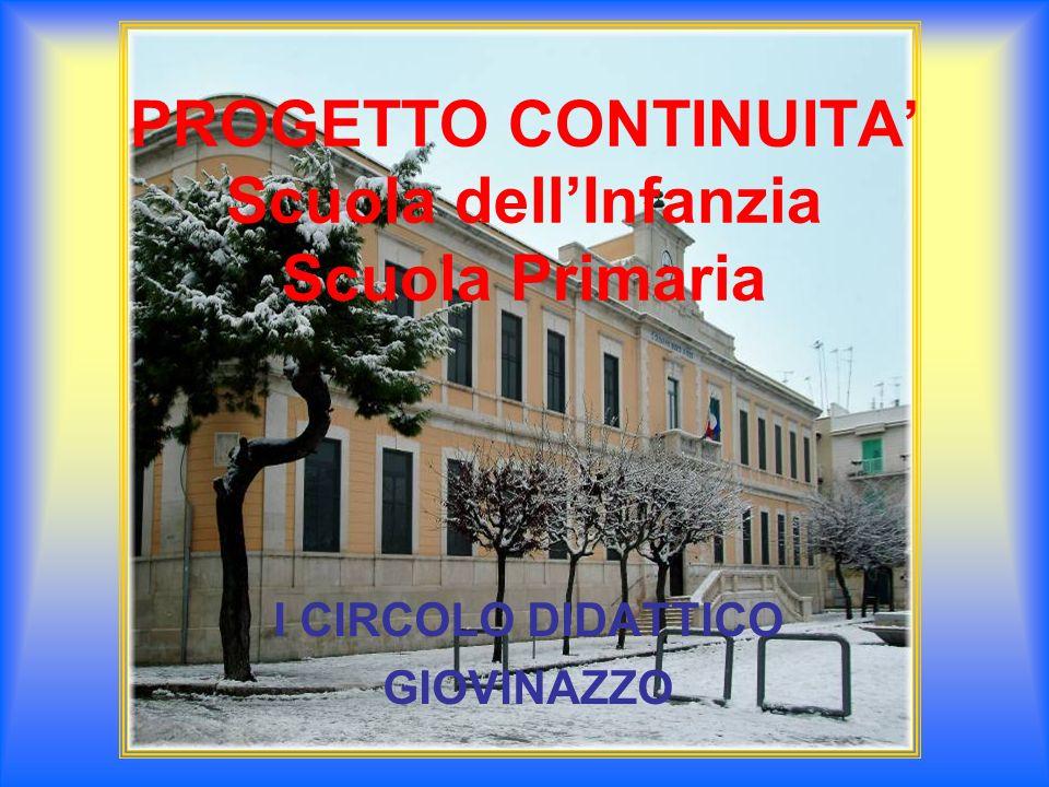 PROGETTO CONTINUITA Scuola dellInfanzia Scuola Primaria I CIRCOLO DIDATTICO GIOVINAZZO