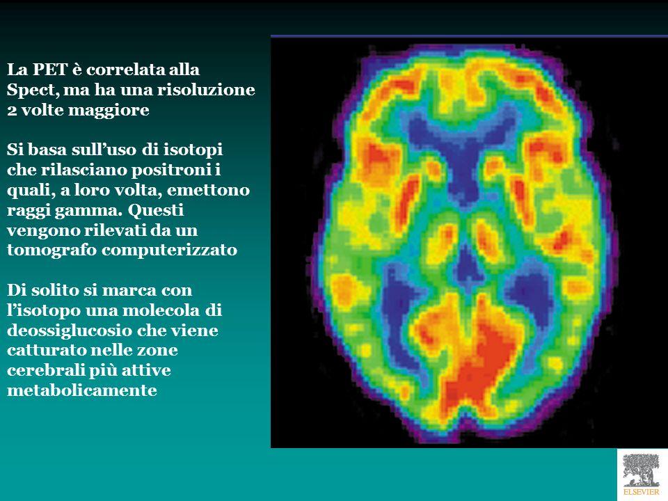 Uso della PET con 18-fuorodeossiglucosio per evidenziare il consumo di glucosio in alcune aree cerebrali durante lo svolgimento di specifici compiti.