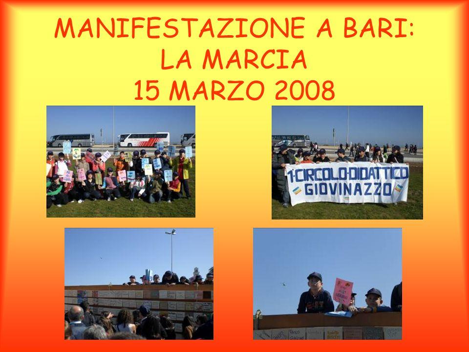 MANIFESTAZIONE A BARI: LA MARCIA 15 MARZO 2008