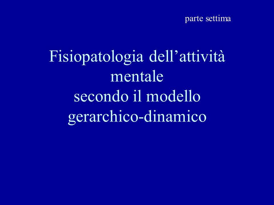 Fisiopatologia dellattività mentale secondo il modello gerarchico-dinamico parte settima
