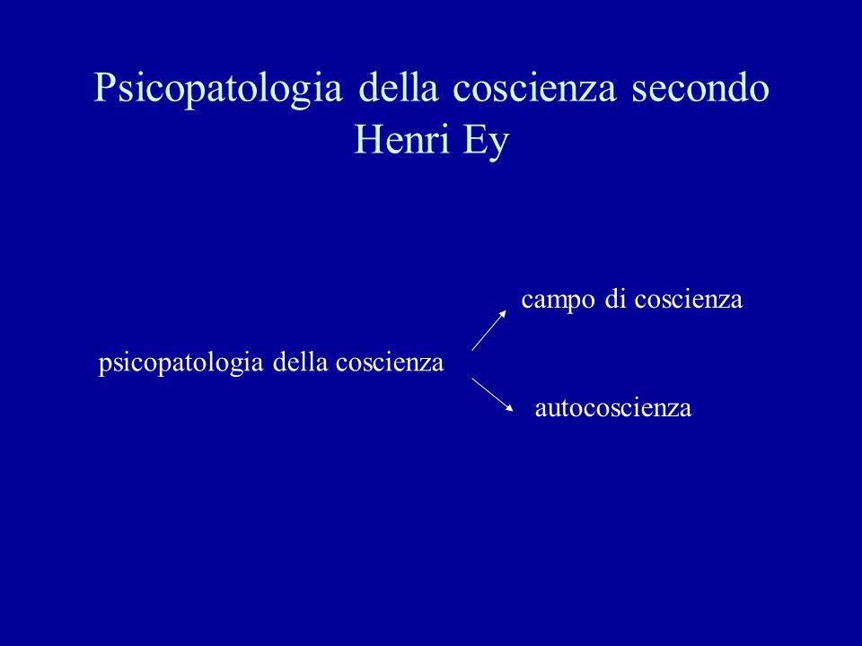 Psicopatologia della coscienza secondo Henri Ey psicopatologia della coscienza campo di coscienza autocoscienza