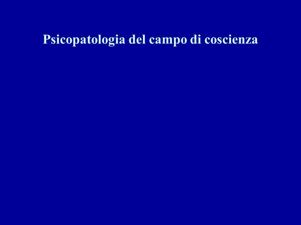 Psicopatologia del campo di coscienza