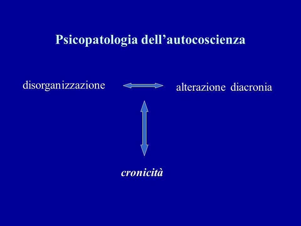 disorganizzazione alterazione diacronia cronicità