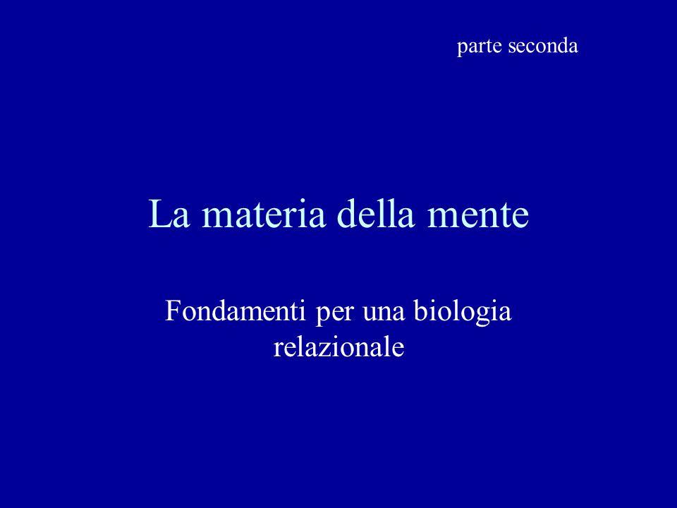 La materia della mente Fondamenti per una biologia relazionale parte seconda