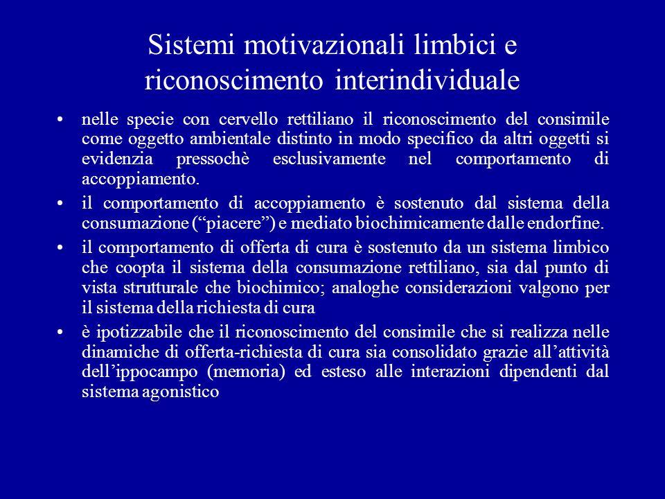 Sistemi motivazionali limbici e riconoscimento interindividuale nelle specie con cervello rettiliano il riconoscimento del consimile come oggetto ambi