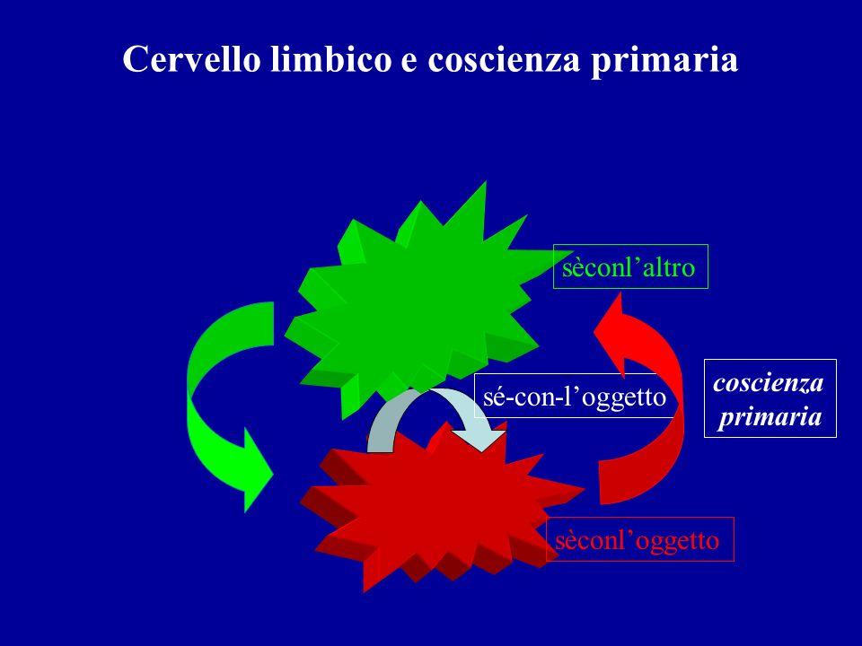 Cervello limbico e coscienza primaria sé-con-loggetto sèconloggetto sèconlaltro coscienza primaria