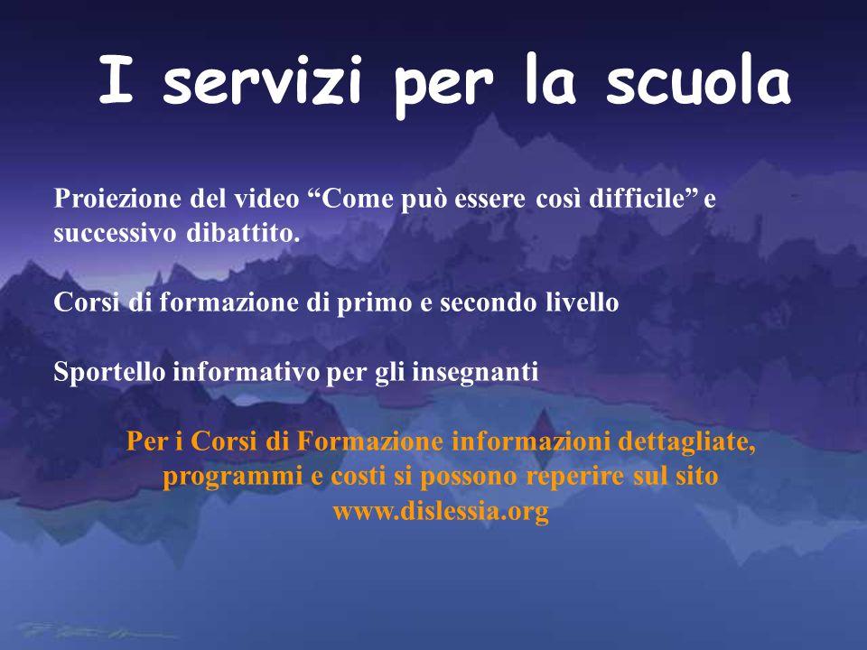 I servizi per la scuola Proiezione del video Come può essere così difficile e successivo dibattito. Corsi di formazione di primo e secondo livello Spo
