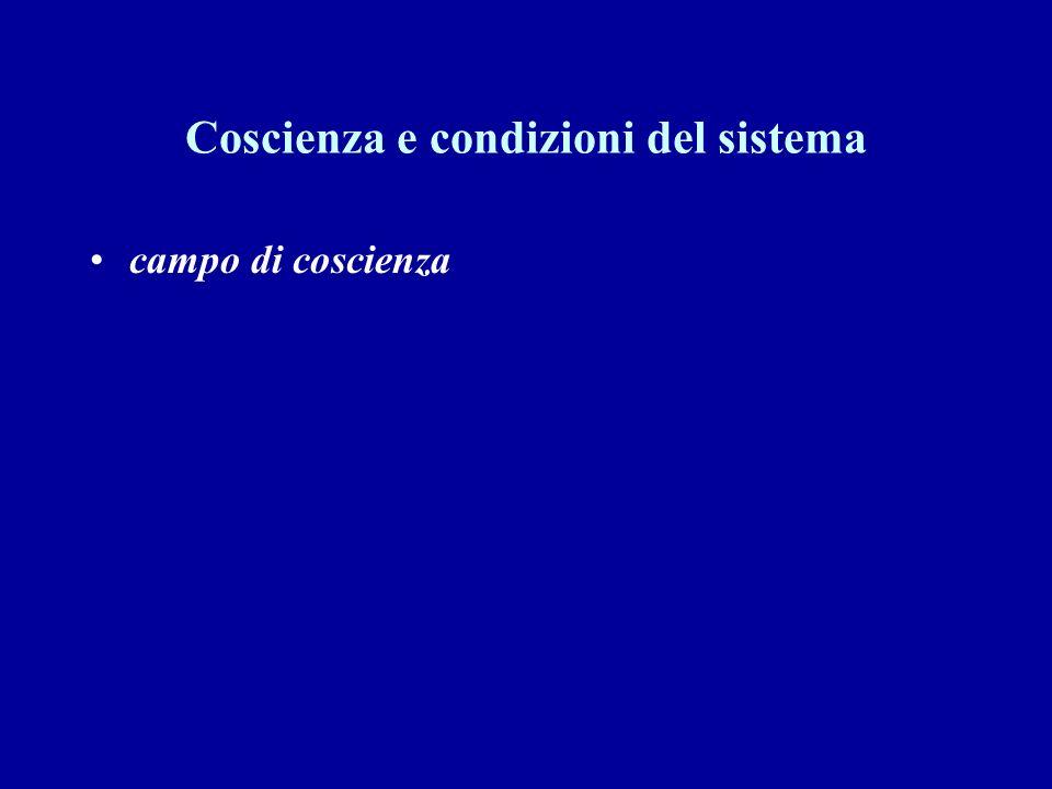 Coscienza e condizioni del sistema campo di coscienza