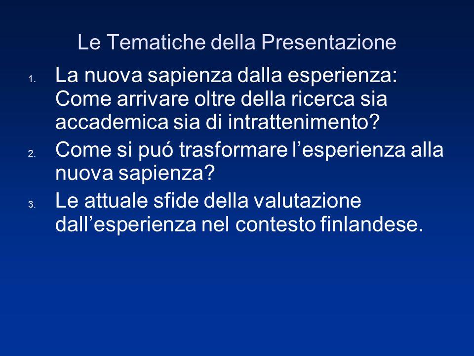 Le Tematiche della Presentazione 1.