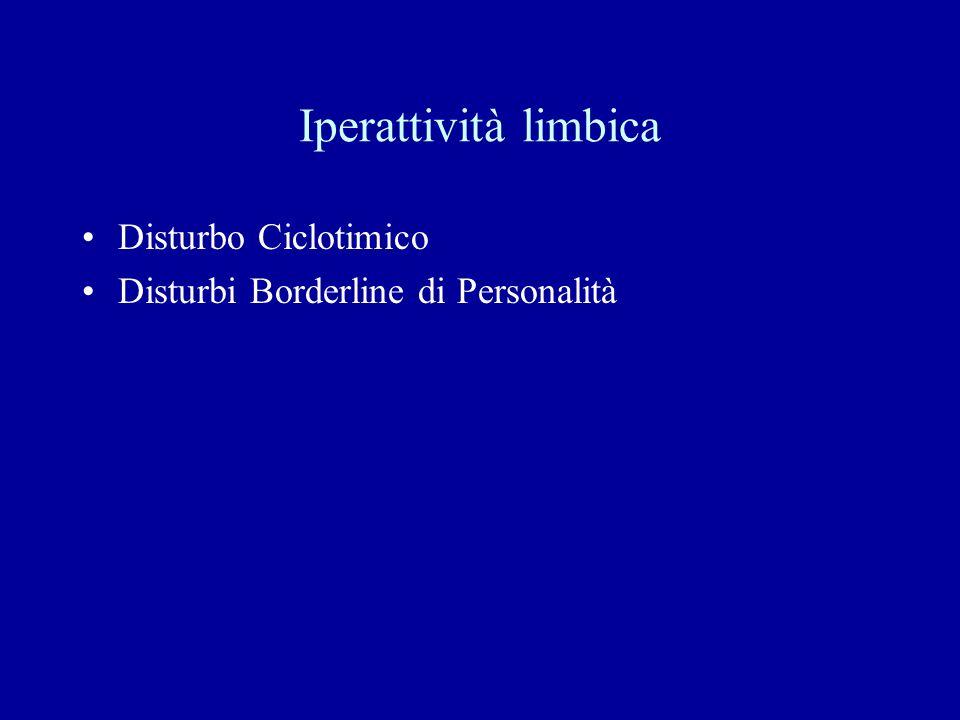Iperattività limbica Disturbo Ciclotimico Disturbi Borderline di Personalità