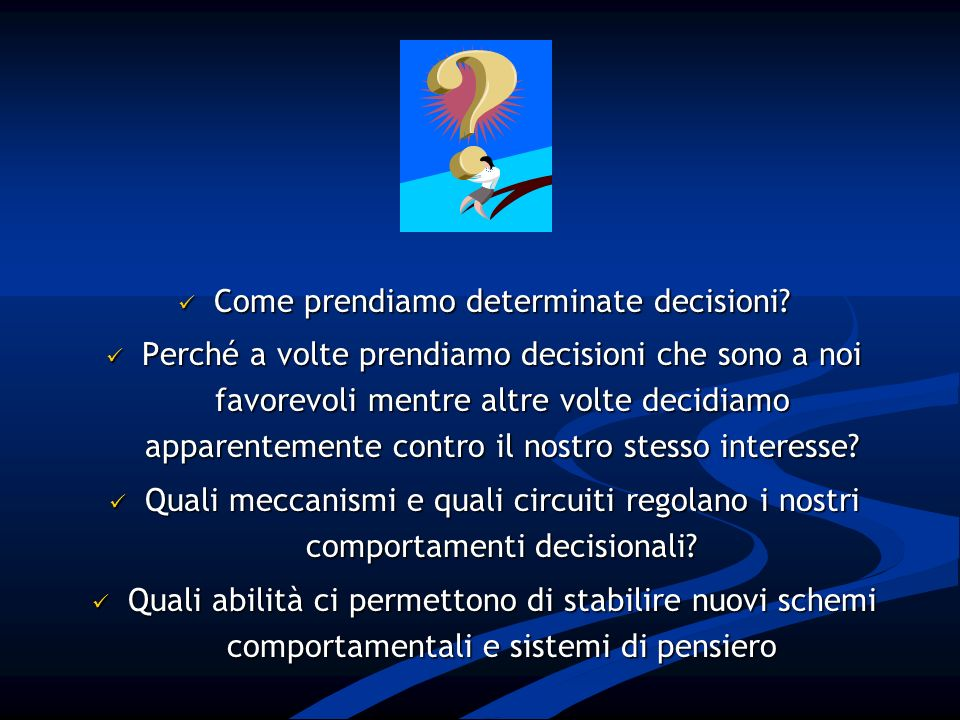 Decision-making nel DOC RESISTERE?