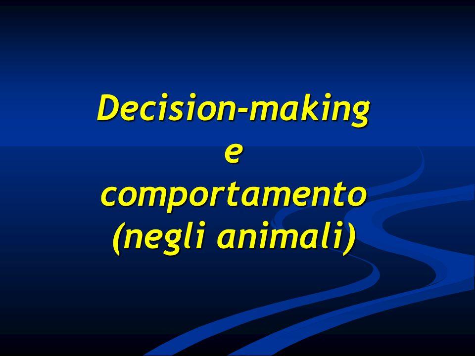 Decision-makinge comportamento (negli animali)
