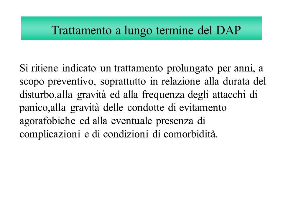 Trattamento a lungo termine del DAP Si ritiene indicato un trattamento prolungato per anni, a scopo preventivo, soprattutto in relazione alla durata d