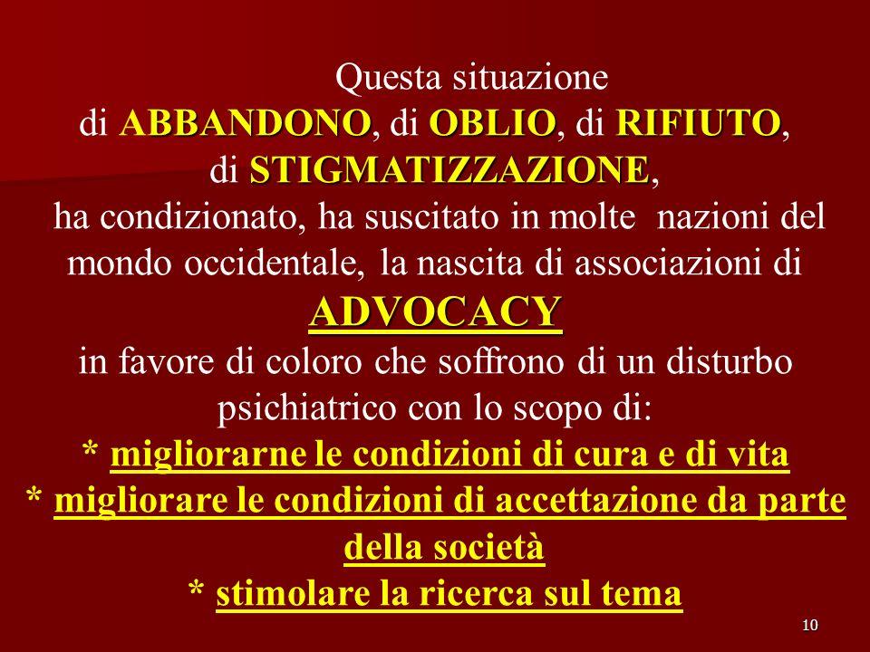 10 Questa situazione BBANDONOOBLIORIFIUTO di ABBANDONO, di OBLIO, di RIFIUTO, STIGMATIZZAZIONE di STIGMATIZZAZIONE, ha condizionato, ha suscitato in m