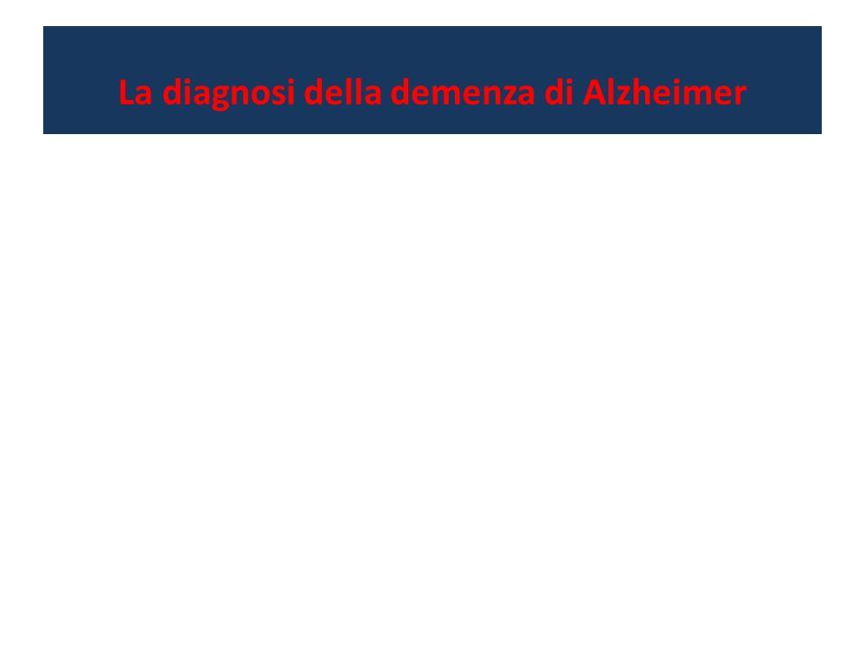 La diagnosi della demenza di Alzheimer