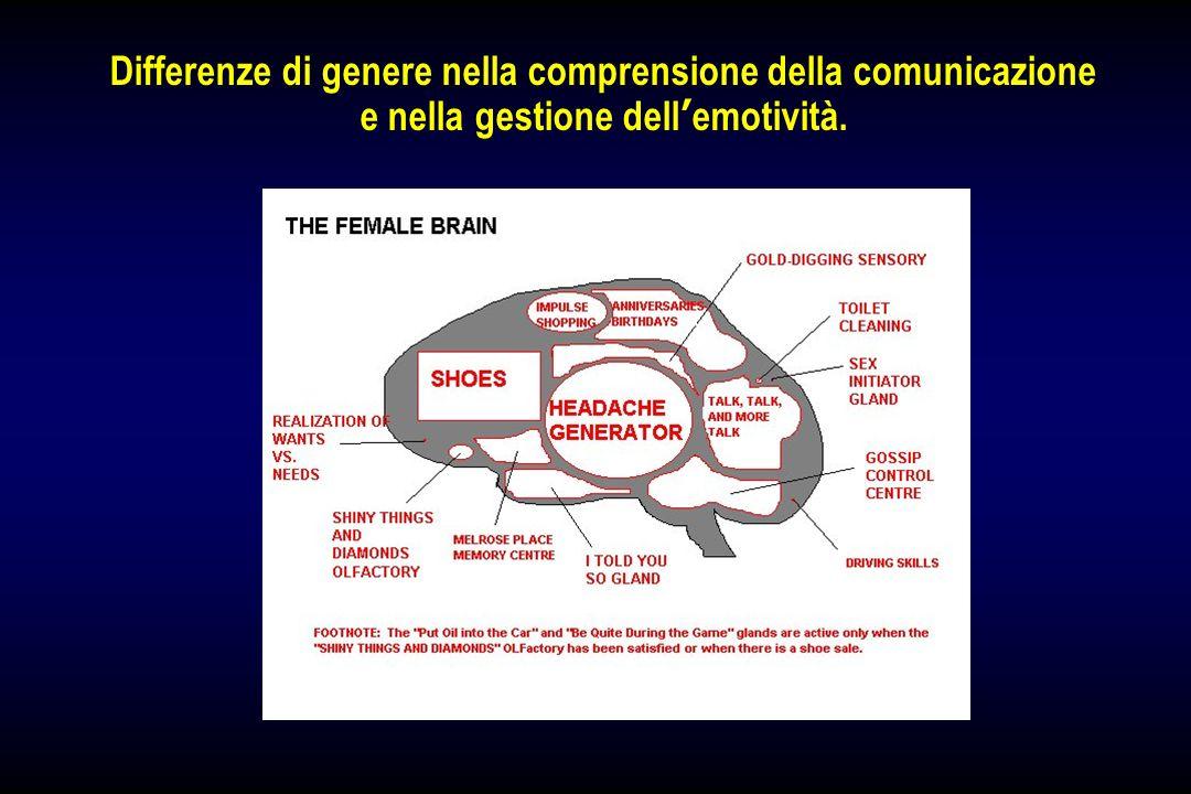 Differenze di genere nella comprensione della comunicazione e nella gestione dell emotività.