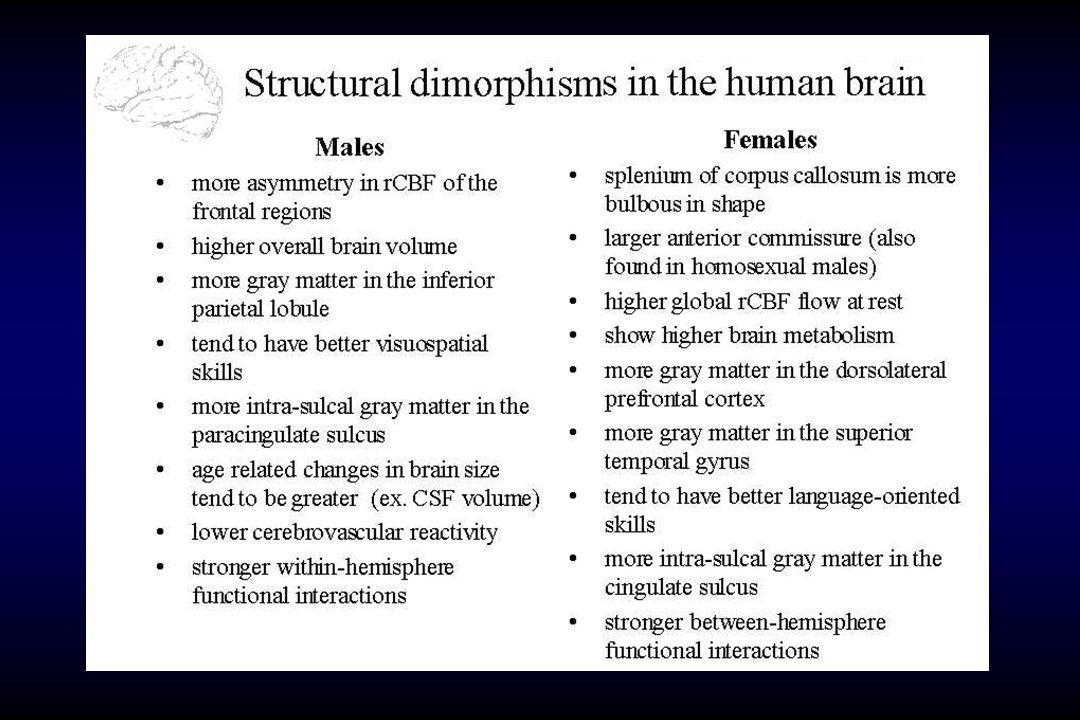 Il Testosterone fetale predice Contatto visivo (12 m) linguaggio (18 m) Relazioni sociali (48 m)