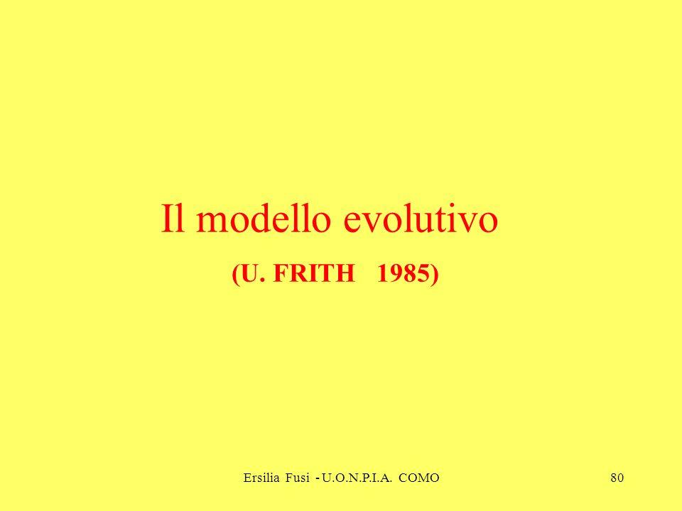 Ersilia Fusi - U.O.N.P.I.A. COMO80 Il modello evolutivo (U. FRITH 1985)