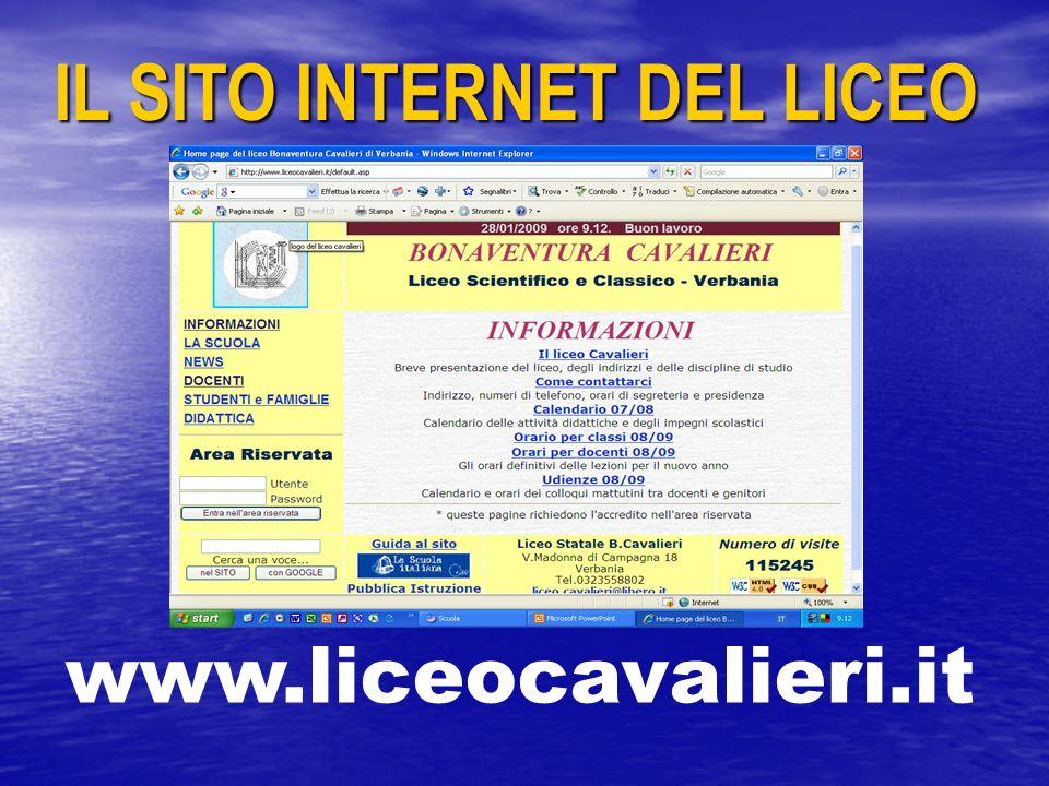 IL SITO INTERNET DEL LICEO www.liceocavalieri.it