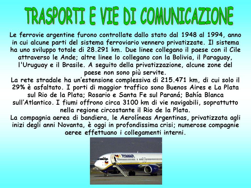 Le ferrovie argentine furono controllate dallo stato dal 1948 al 1994, anno in cui alcune parti del sistema ferroviario vennero privatizzate.