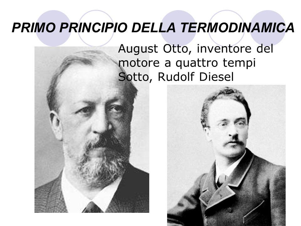 PRIMO PRINCIPIO DELLA TERMODINAMICA August Otto, inventore del motore a quattro tempi Sotto, Rudolf Diesel