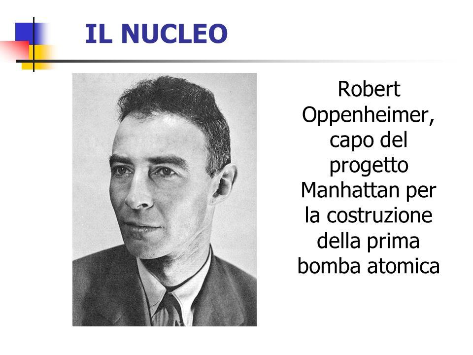 IL NUCLEO Robert Oppenheimer, capo del progetto Manhattan per la costruzione della prima bomba atomica