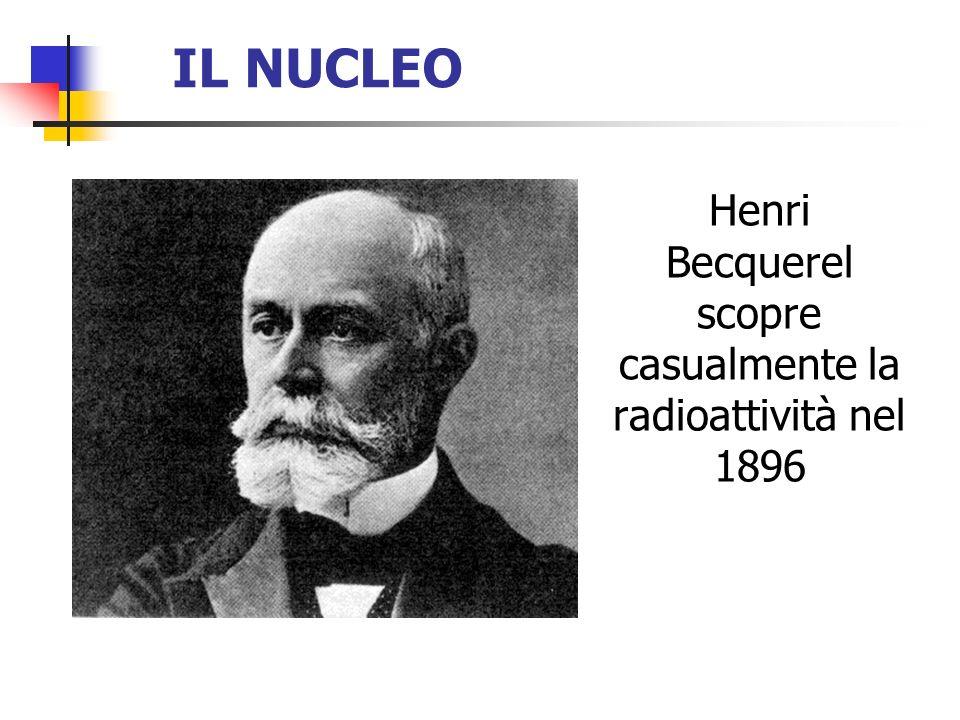 IL NUCLEO Henri Becquerel scopre casualmente la radioattività nel 1896