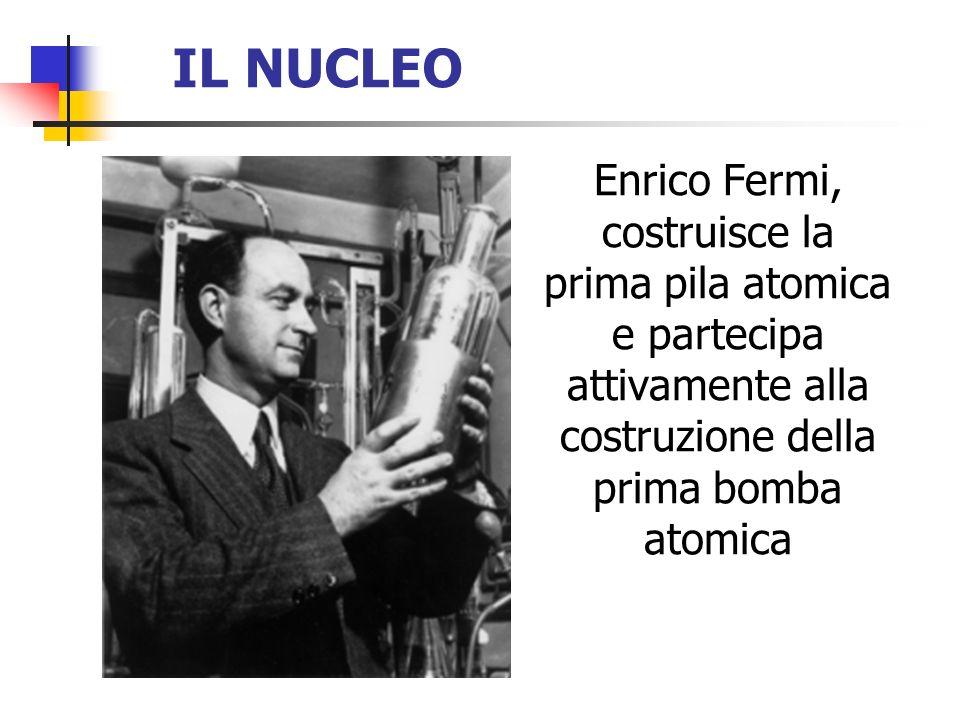 IL NUCLEO Enrico Fermi, costruisce la prima pila atomica e partecipa attivamente alla costruzione della prima bomba atomica