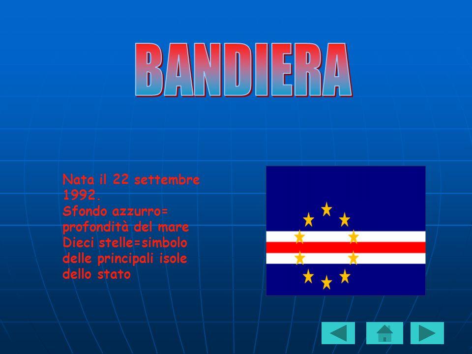 Nata il 22 settembre 1992. Sfondo azzurro= profondità del mare Dieci stelle=simbolo delle principali isole dello stato