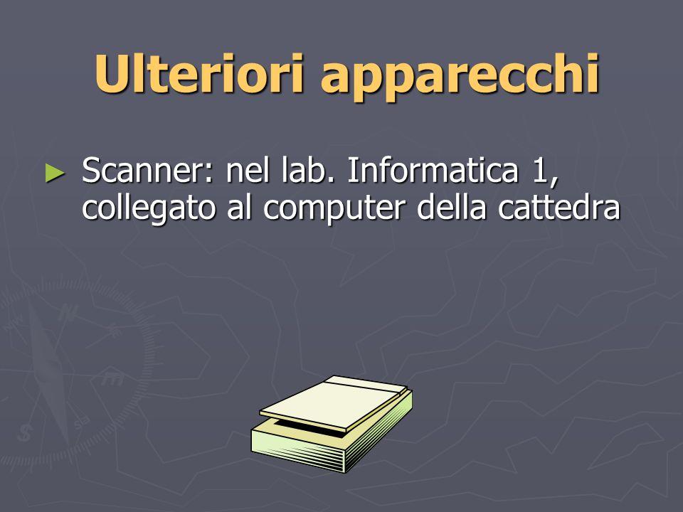 Ulteriori apparecchi Scanner: nel lab.