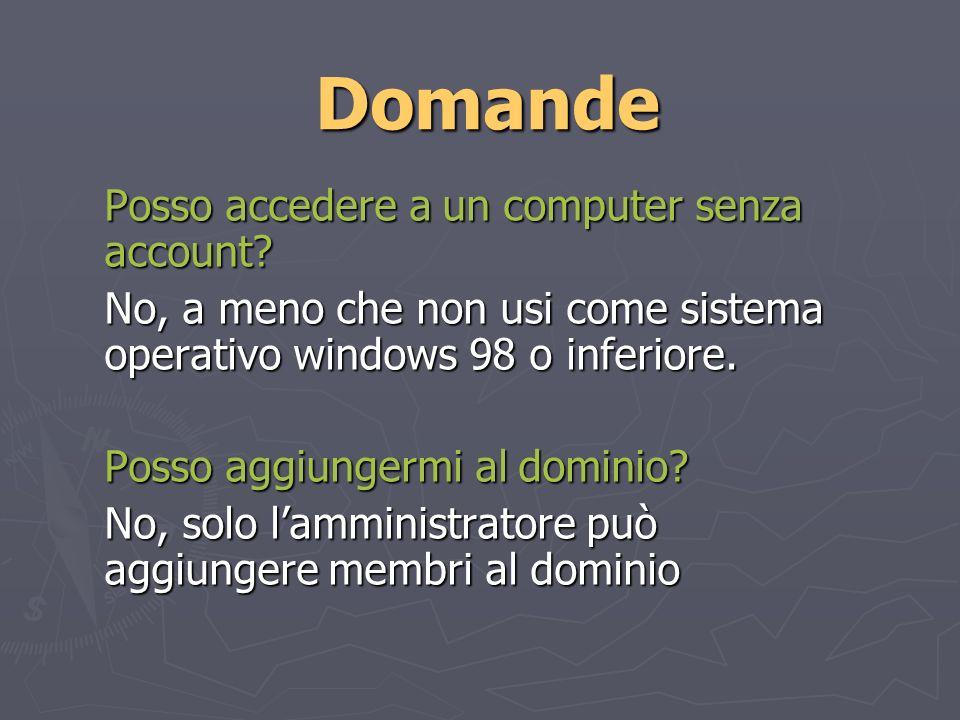Domande Posso accedere a un computer senza account.