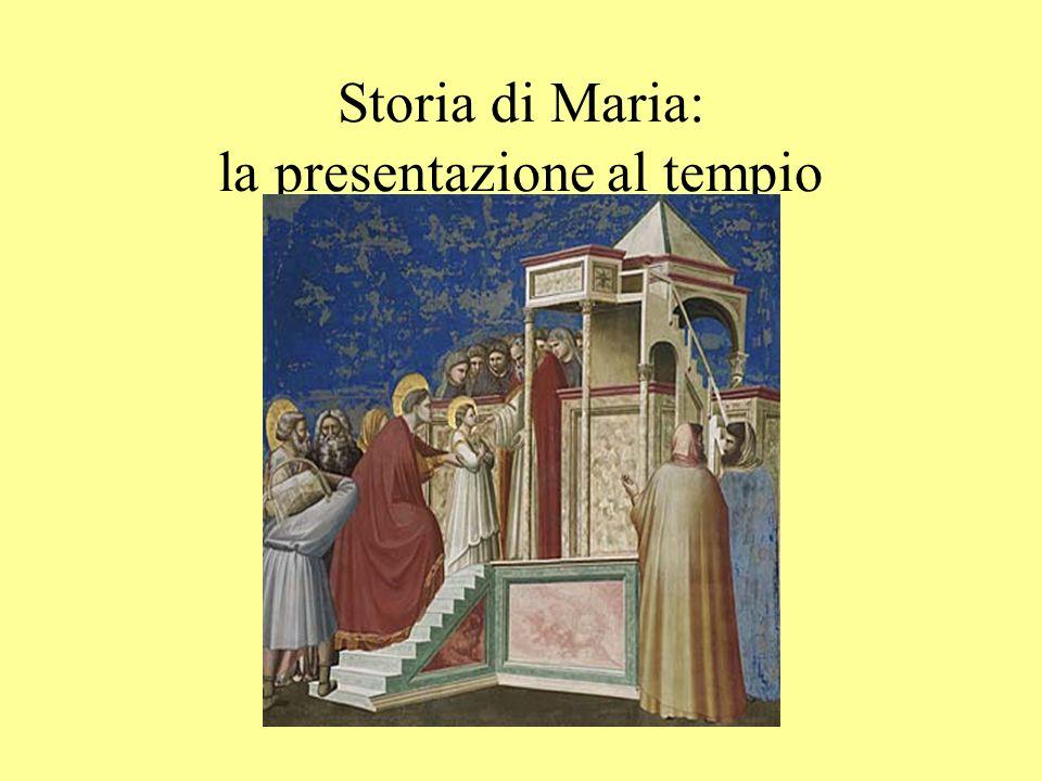 Storia di Maria: la presentazione al tempio