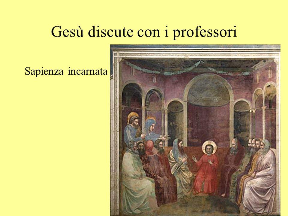 Gesù discute con i professori Sapienza incarnata