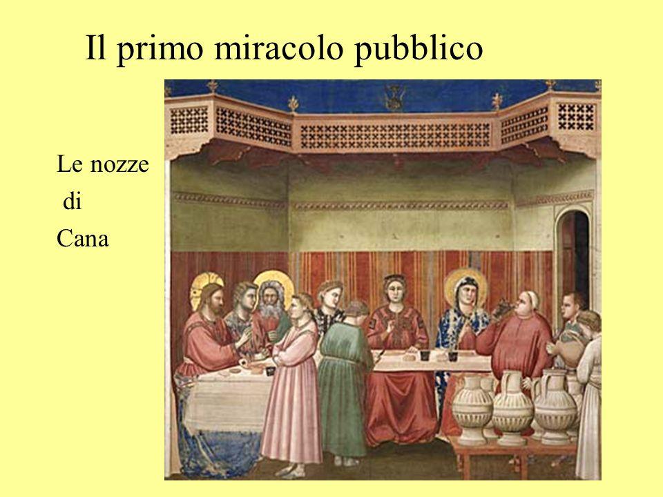 Il primo miracolo pubblico Le nozze di Cana