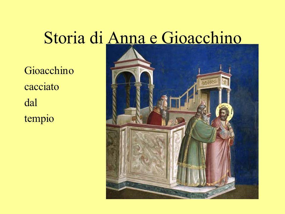 Storia di Anna e Gioacchino Gioacchino cacciato dal tempio