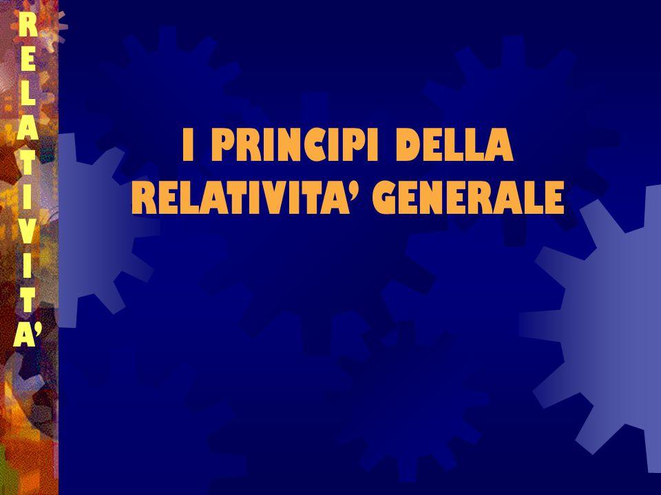 I PRINCIPI DELLA RELATIVITA GENERALE RELATIVITARELATIVITA