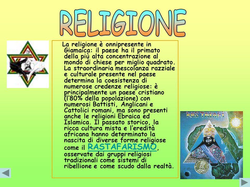 La religione è onnipresente in Giamaica: il paese ha il primato della più alta concentrazione al mondo di chiese per miglio quadrato. La straordinaria