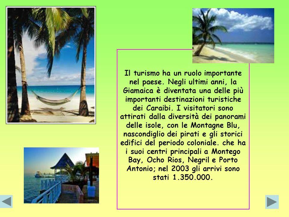 Il turismo ha un ruolo importante nel paese. Negli ultimi anni, la Giamaica è diventata una delle più importanti destinazioni turistiche dei Caraibi.