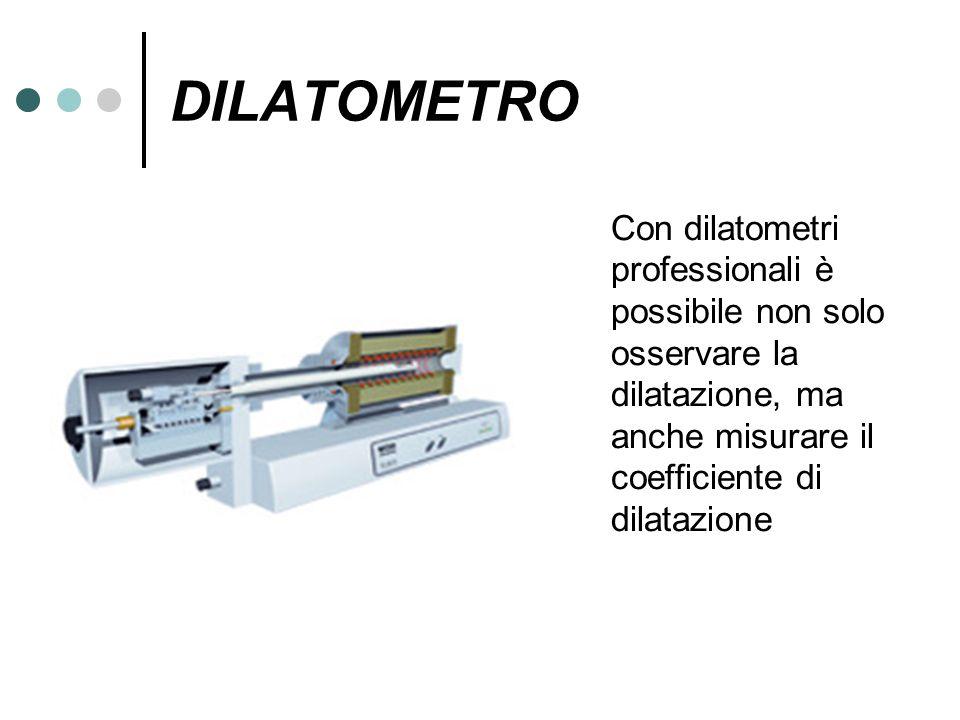 DILATOMETRO Con dilatometri professionali è possibile non solo osservare la dilatazione, ma anche misurare il coefficiente di dilatazione