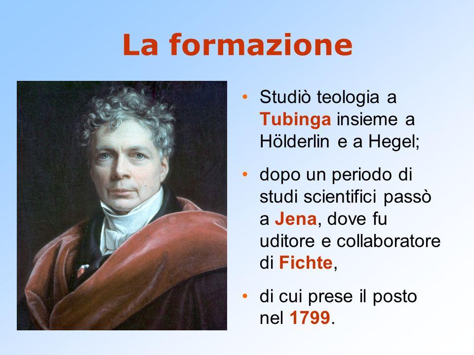 La formazione Studiò teologia a Tubinga insieme a Hölderlin e a Hegel; dopo un periodo di studi scientifici passò a Jena, dove fu uditore e collaborat