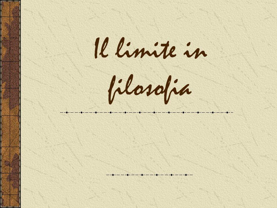 Il limite in filosofia Nei Prolegomeni Kant afferma che è possibile gettare lo sguardo al di là del limite mediante lANALOGIA Es.