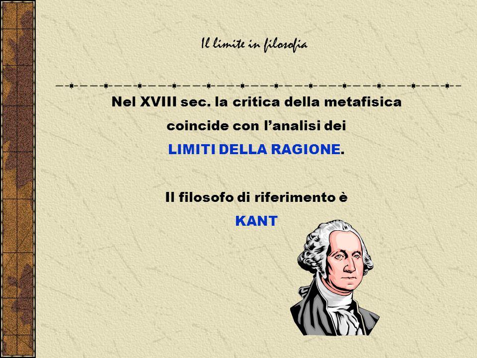 Il limite in filosofia Nel XVIII sec.