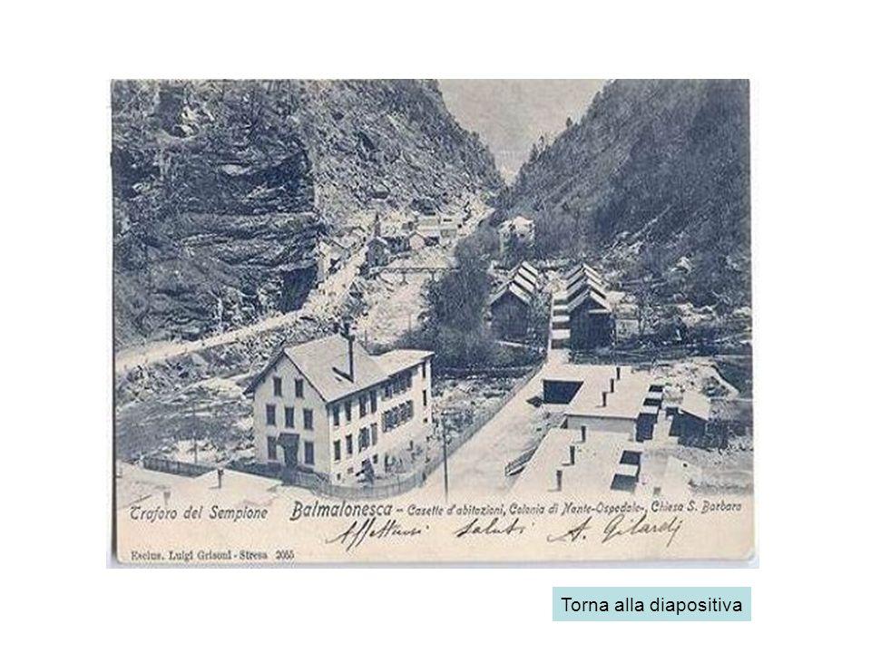 La morte del villaggio Al termine dei lavori di costruzione della galleria del Sempione, il villaggio iniziò a spopolarsi: molti minatori tornarono ne