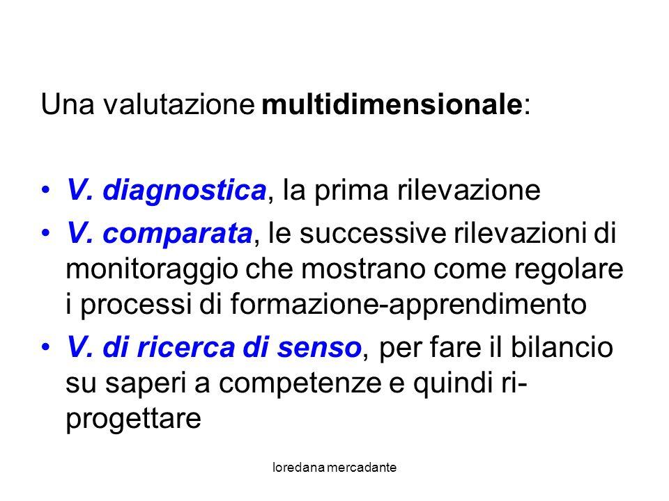 loredana mercadante Una valutazione multidimensionale: V.