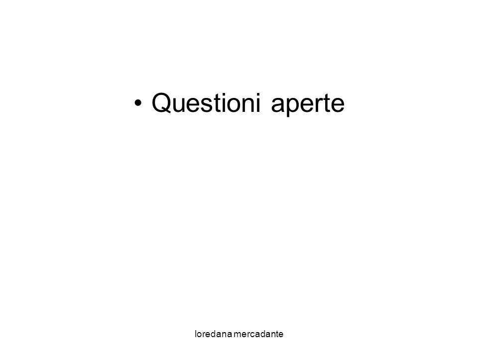 Questioni aperte