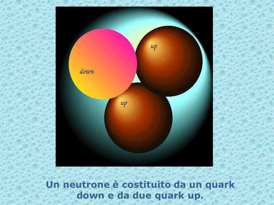 Un neutrone è costituito da un quark down e da due quark up.