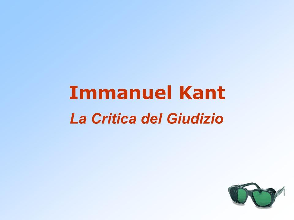 Immanuel Kant La Critica del Giudizio