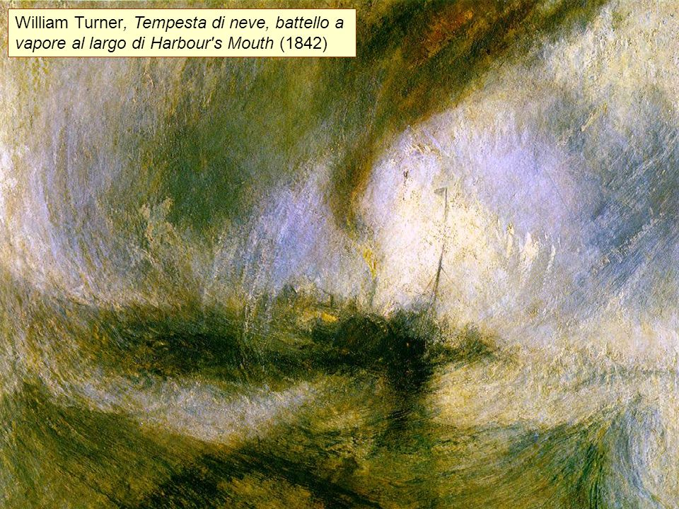William Turner, Tempesta di neve, battello a vapore al largo di Harbour's Mouth (1842)