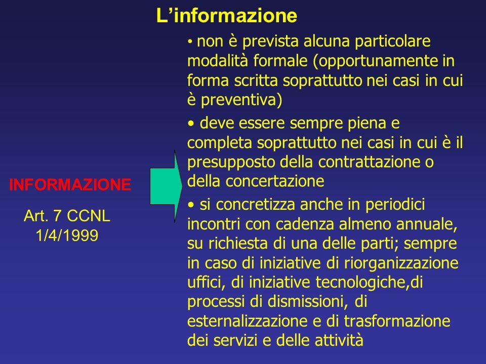 Linformazione non è prevista alcuna particolare modalità formale (opportunamente in forma scritta soprattutto nei casi in cui è preventiva) deve esser